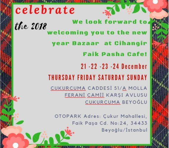 Christmas and New Year Bazaar in Cihangir Faik Pasha Cafe